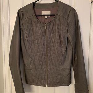 Hinge. Nordstrom brand leather jacket.